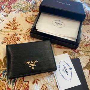 Prada Vitello bi-fold wallet